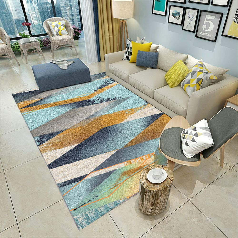 Best Seller Nordic Simple Carpet Living Room Home Machine Washable Geometric Floor mat C1 120X160CM