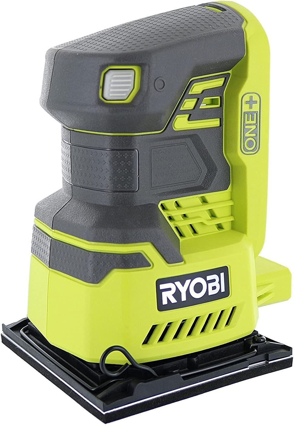 Ryobi P440 One 18V Lithium Ion 12,000 RPM 1 4 Sheet Palm Sander w Onboard Dust Bag and Included Sanding Pads Battery Not Included, Power Tool Only