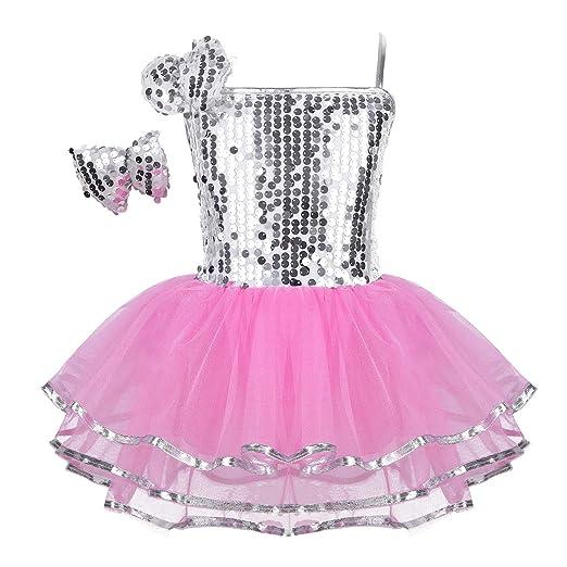 bcaa2c8c4 Amazon.com  Alvivi Kids Girls Halterneck Sequins Ballet Dance Dress ...