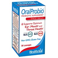 OralProbio 30ct, Once Daily Chewable Tablets, Supports Optimum Ear, Mouth, and Throat Health, Non GMO, Gluten Free, Contains BLIS K12 & M18