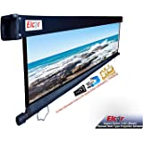 ELCOR Manual Wall No-Autolock Black Series, Projector Screen,4:03 Aspect Format, 4ft.Heihgt x 6ft.Width, 84-Inch Diagonal in HD,3D,4K Technology
