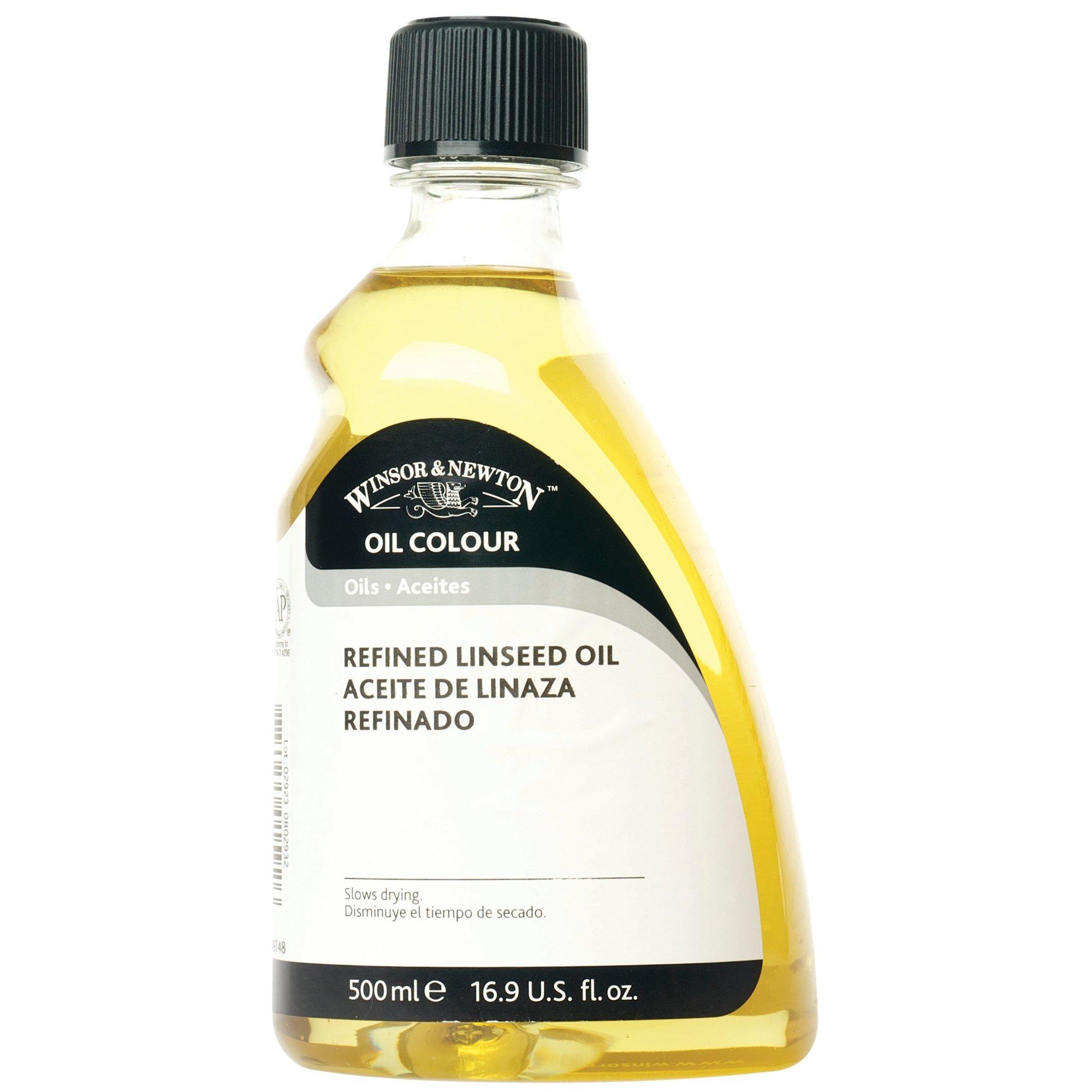 Winsor & Newton Refined Linseed Oil, 500ml by Winsor & Newton