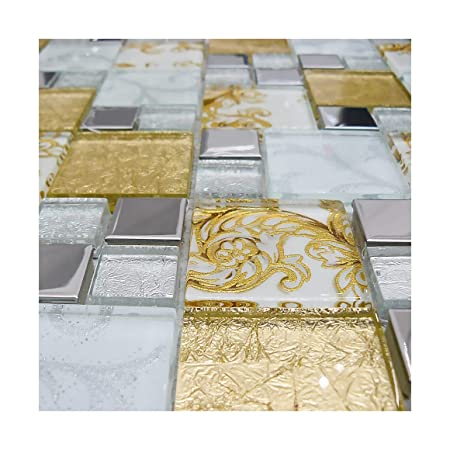 Onyx Gold Vintage Mix Squares Mosaic Tiles Sheet For Walls