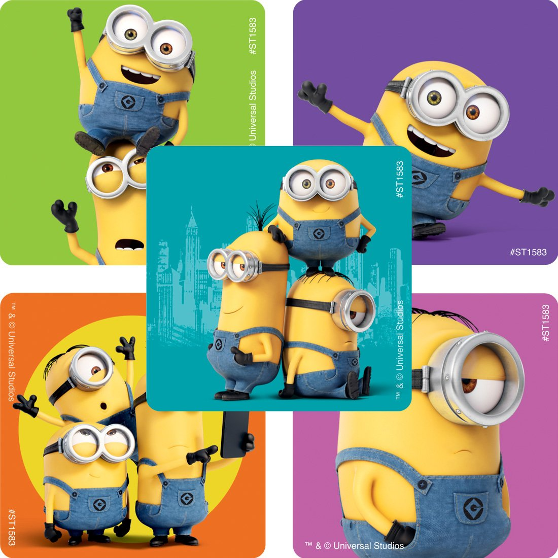 Prizes 100 per Pack SmileMakers Inc SmileMakers Minions Stickers