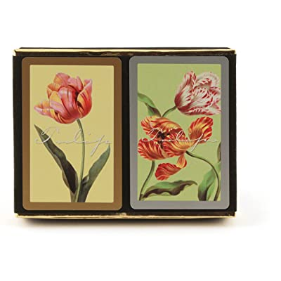 Congress Tulips Playing Cards - Jumbo Index (Pack of 2): Sports & Outdoors [5Bkhe0504219]