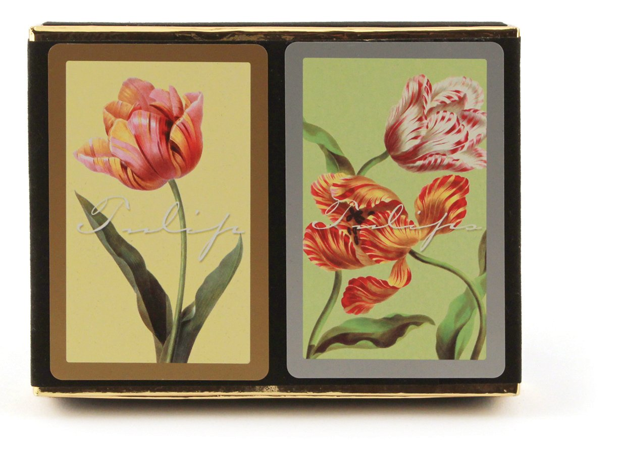 Congress Tulips Playing Cards - Jumbo Index (Pack of 2) by Congress