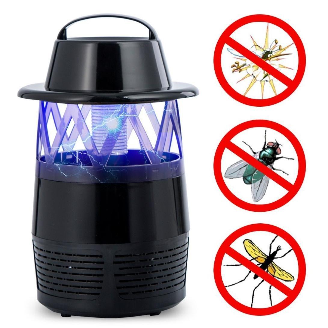 FreshZone Electric Mosquitoトラップfor夏Bug Zapper LED Bug Zapper Usb Fly Trap Flying昆虫キラーMosquito B07FP7HNDY  ブラック