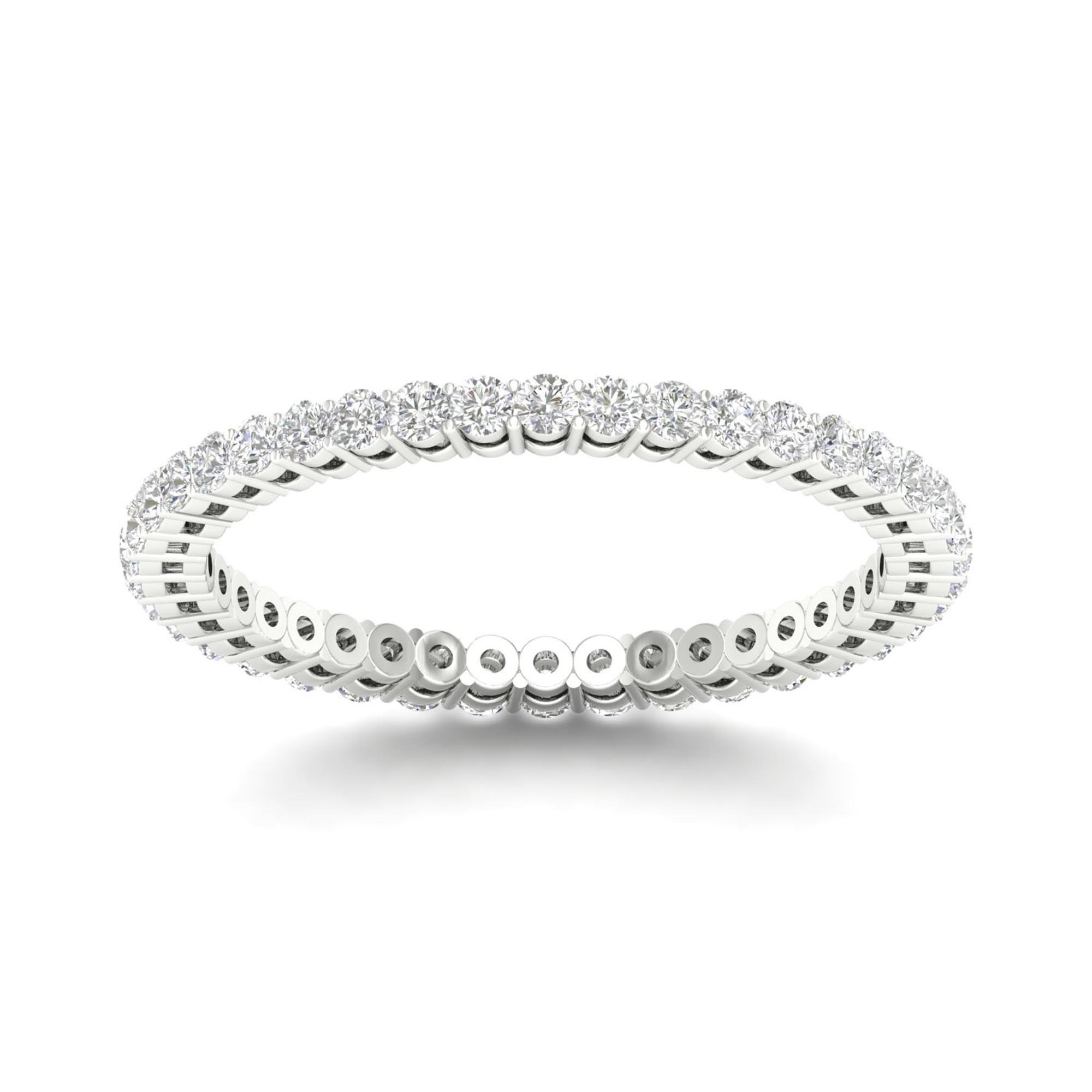 IGI Certified 14k White Gold 1/2ct TDW Diamond Eternity Wedding Band (H-I, I2) by Diamond Hub