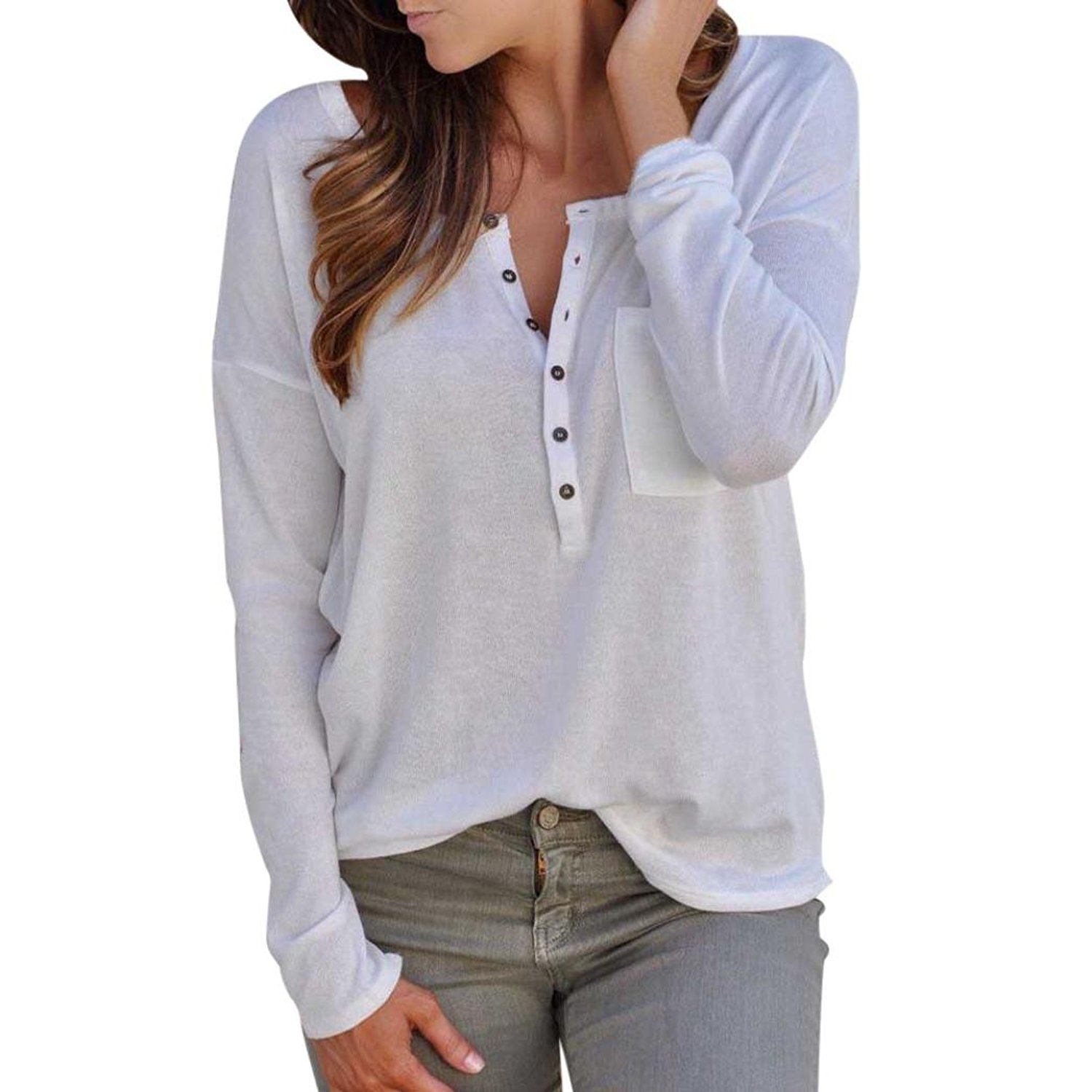 Autumn&Winter Clothing,Fulltime(TM) Long Sleeve Pullover Ladies Loose Shirt YHL70914183