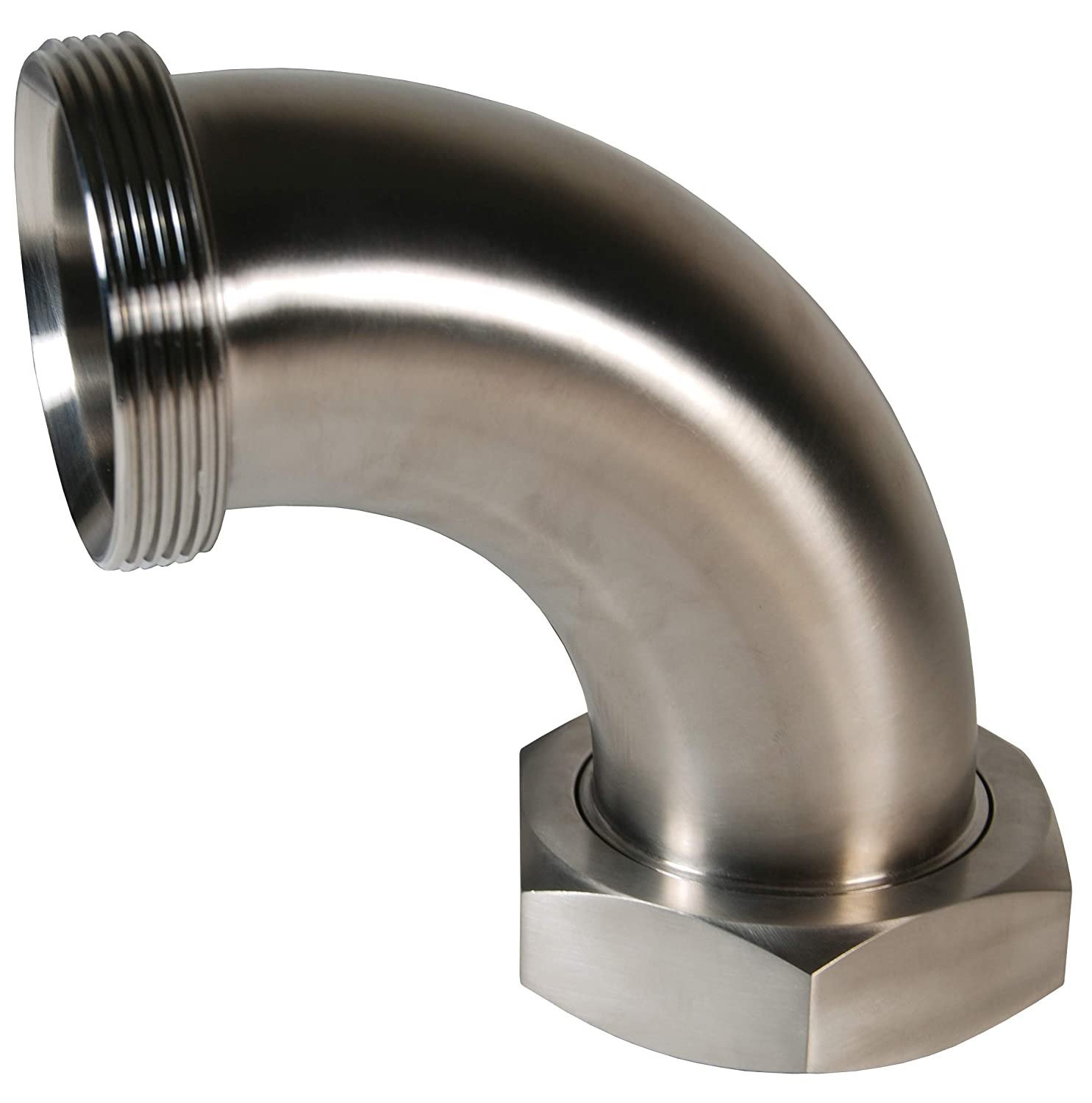 Plain Bevel with Hex Nut 90 Degree Elbow Dixon B2F-G250 304SS Threaded Bevel Seat 2.5