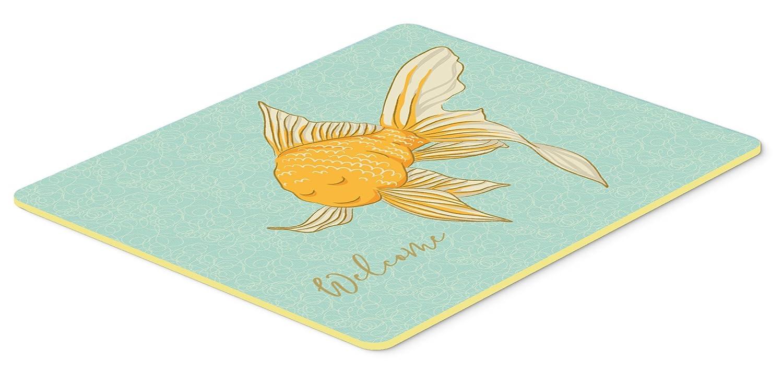 Caroline 's Treasures bb8551jcmtゴールド魚Welcomeキッチンマット、24hx36 W、マルチカラー   B074F47LKJ