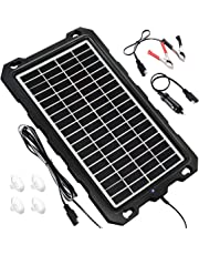 POWOXI 12V Solar Trickle Charger for Car Battery, Solar Battery Maintainer