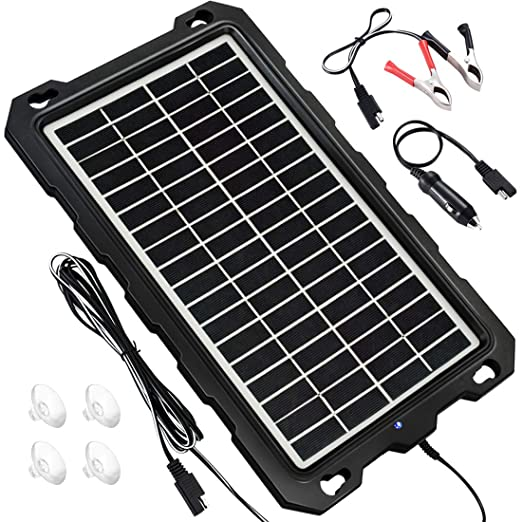 POWOXI - Cargador Solar para Coche (12 V, batería Solar ...