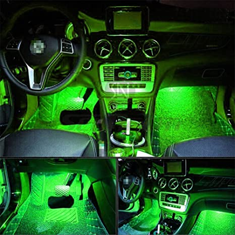 Led Per Auto Interni.4pcs Car Led Interior Underdash Lighting Kit W 3m Sticker