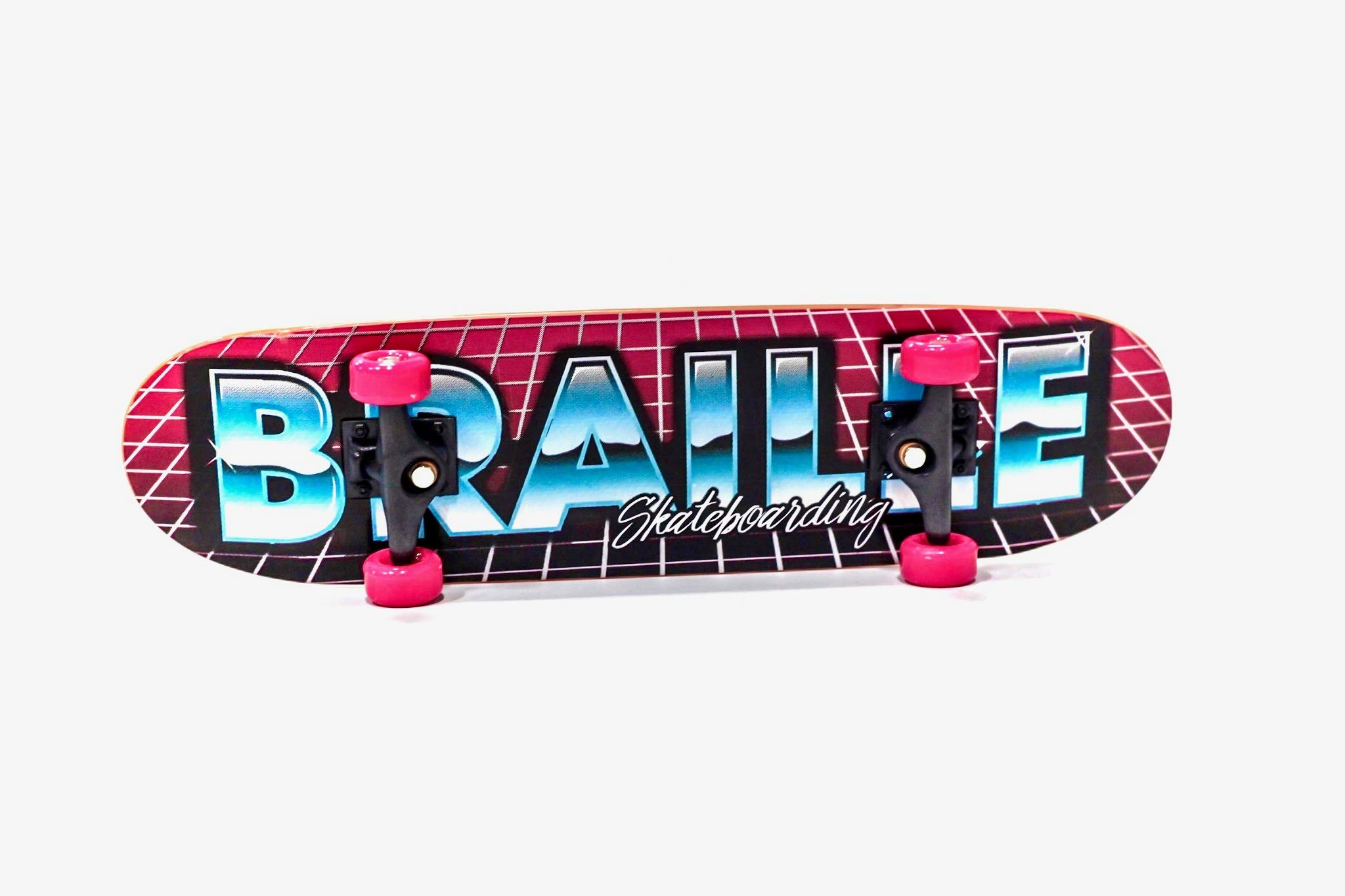 Braille Skateboarding Aaron Kyro 80's 11inch Professional Hand Board. Toy Skateboard Comes with Wheels, Trucks, Hardware and Tools. Real Griptape. by Braille Skateboarding (Image #2)