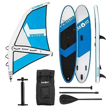 Klarfit Spreestar WS • Paddle Surf con o sin Vela • Tabla Sup Hinchable • Set ...