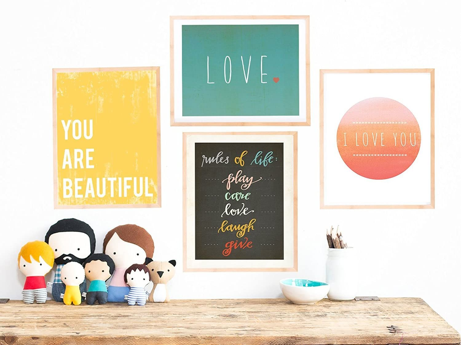 Rules of Life Collection, Set of Four 08x10 Inch Print Wall Art Prints, Nursery Decor, Kid's Room Decor, Gender Neutral Nursery Decor, Baby Room, Playroom Decor, Eco Friendly, Baby Shower