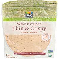 365 Everyday Value, Organic Whole Wheat Thin & Crispy Pizza Crusts, 2 Count