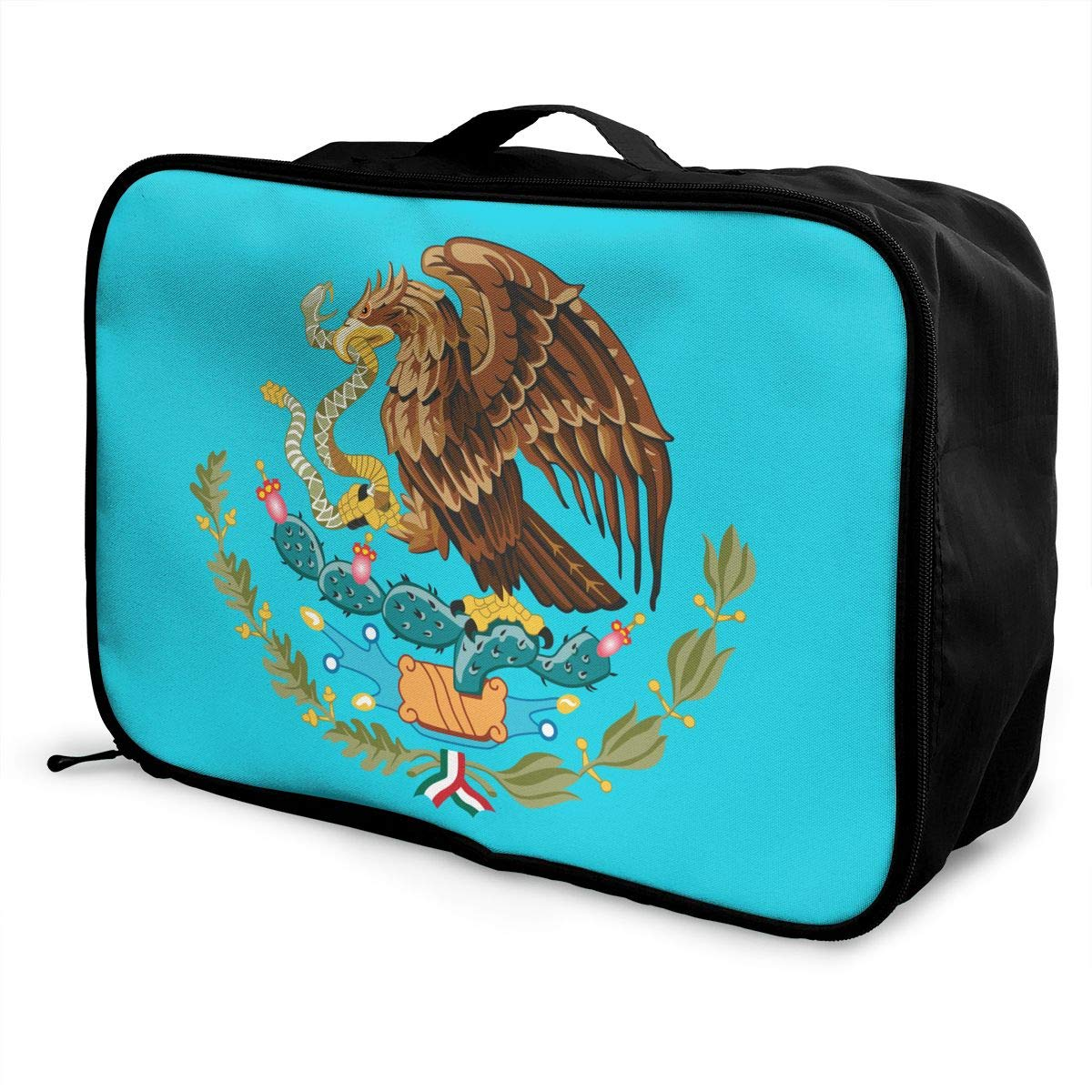 YueLJB Coat Arms Mexico Lightweight Large Capacity Portable Luggage Bag Travel Duffel Bag Storage Carry Luggage Duffle Tote Bag