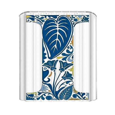 YOLIYANA Cortina de ducha de color coral elegante, diseño de ...