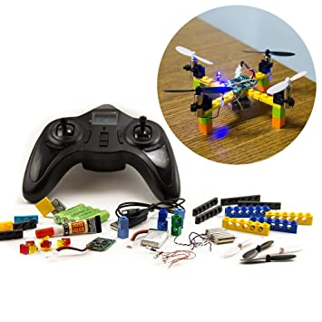 Amazon kitables lego rc drone kit build and fly your very kitables lego rc drone kit build and fly your very own quadcopter with our diy solutioingenieria Image collections