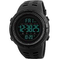 Reloj Digital, para Hombre, para Actividades al Aire Libre, Deportivo, Militar, Sumergible, cronógrafo, Cuenta atrás…