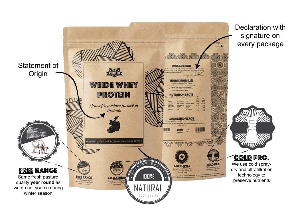 Protero Weide Whey Protein - Grass Fed - Vanilla: Amazon.es: Salud y cuidado personal