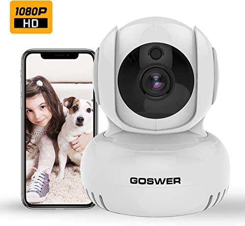 Baby Monitor,GOSWER 2.4G WiFi Camera Indoor Pan Tilt Zoom Security Wireless IP Camera 1080P Home Surveillance with Motion Detection, IR Night Vision, Two-Way Audio,Temp Alarm,Alexa,Cloud Service