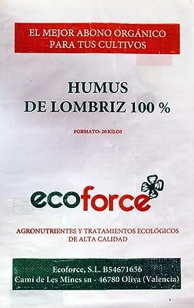 cultivers by ecoforce Humus DE LOMBRIZ LOMBRIZ ECOLÓGICO (20 kg/40 L) DE
