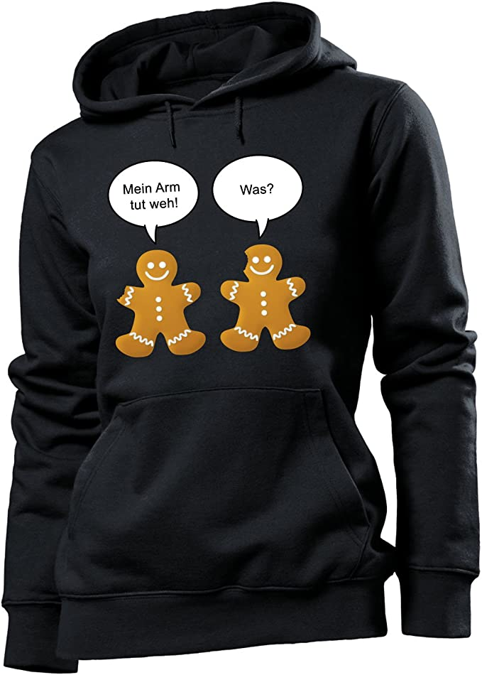 Kapuze Ich Liebe es wenn Meine Frau Mich in Ruhe l/ässt Langarm Damen Hoodie Print-Pulli Comedy Shirts K/ängurutasche