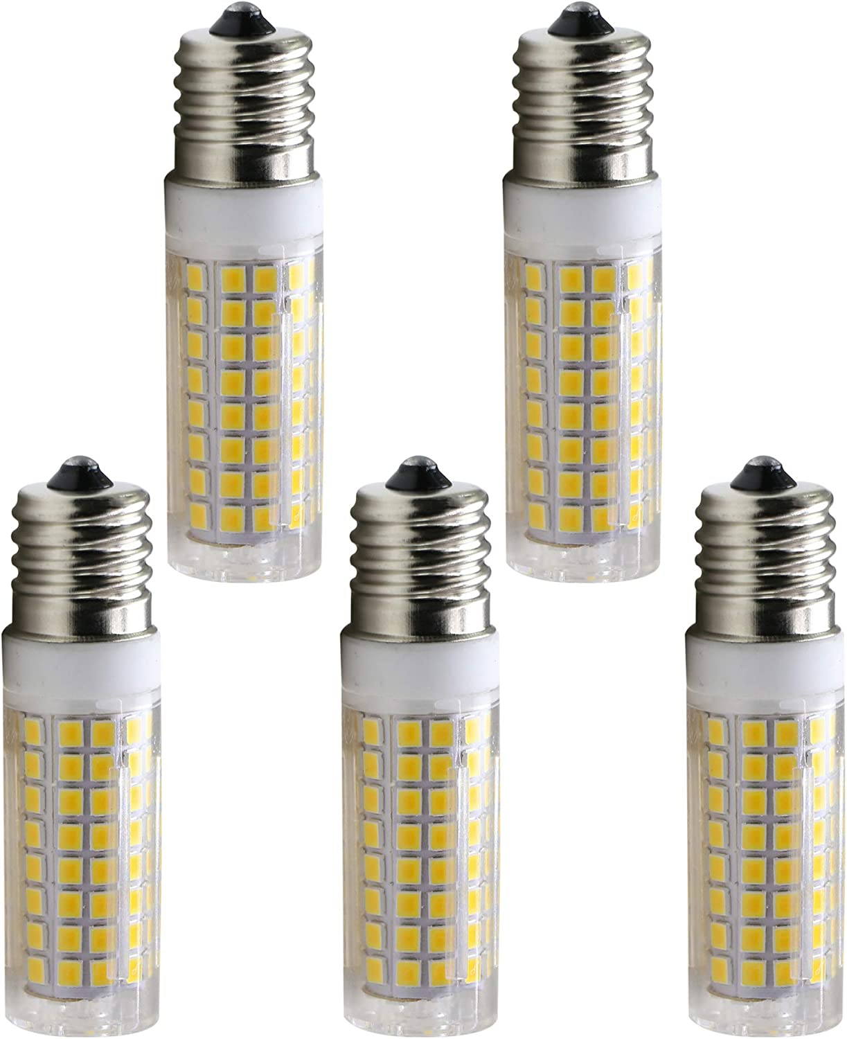 E17 LED Bulb 8 Watt Appliance Bulb Microwave Oven Light 3000K Warm White, 850lm, 75W Halogen Equivalent dimmable (5-Pack)