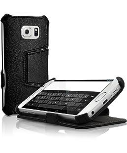 iGadgitz U3620Étui PU Cuir Compatible avec Samsung Galaxy S6SM-G920Livre Coque–Noir