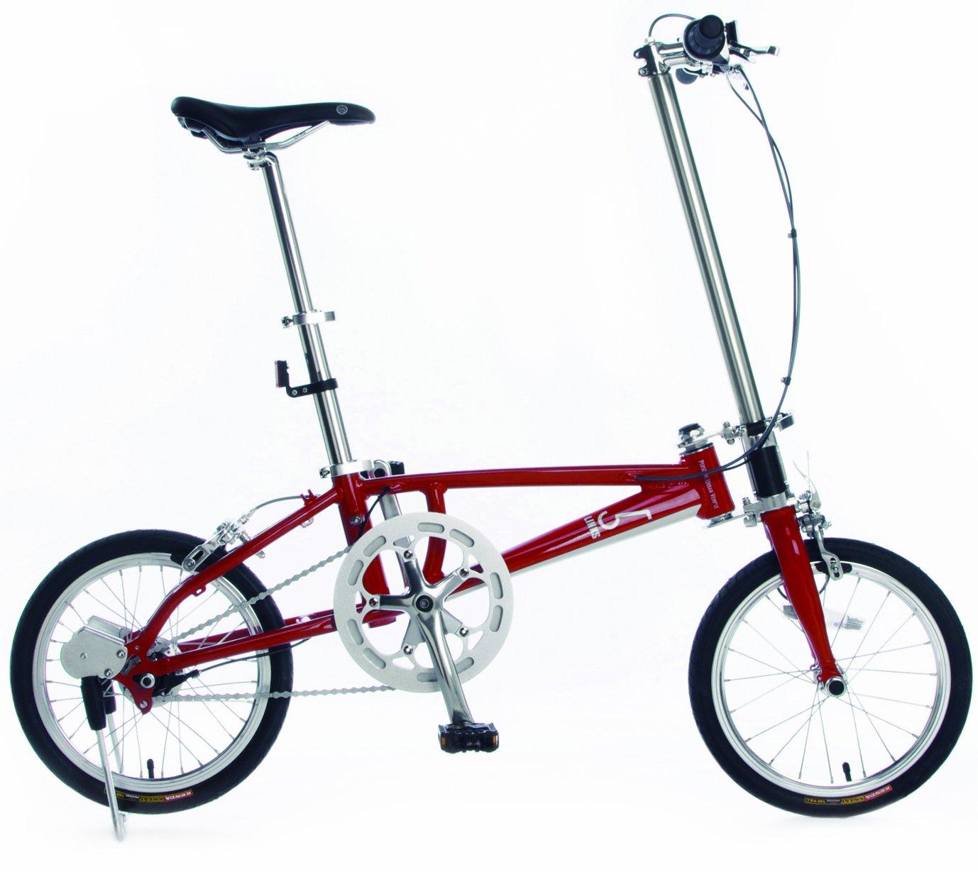 5LINKS(ファイブリンクス) 16インチ 折たたみ自転車 シマノ インター5 段 仕様 レッド/ホワイト 5LINKS2 165 B00K6LO6IA