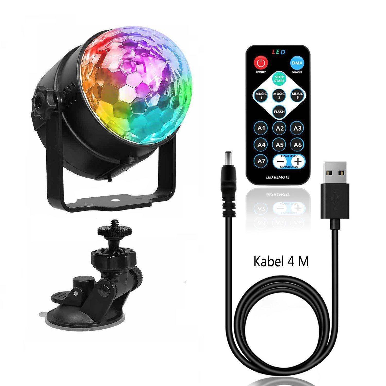 Luce del palco, Benma Mini LED lampada di discoteca del telecomando, Crystal Magic Ball RGB disco luce per KTV discoteca bar club festa di Natale