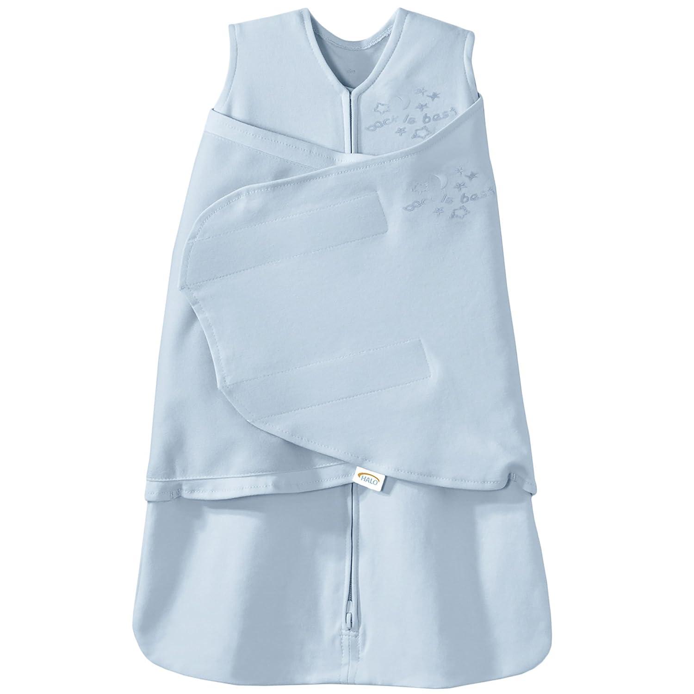 factory authentic 55a9e f7926 HALO SleepSack 100% Cotton Swaddle, Baby Blue, Newborn
