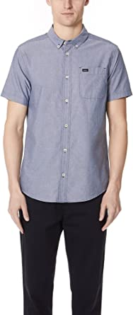 RVCA - - Hombres que va a hacer Button Oxford manga corta Camisa: Amazon.es: Ropa y accesorios