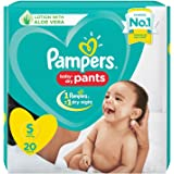 Pampers New Diapers Pants, Small, 20 Count