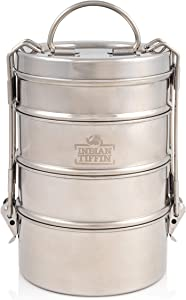 4 Tier Indian-Tiffin Stainless Steel Large Tiffin Lunch Box