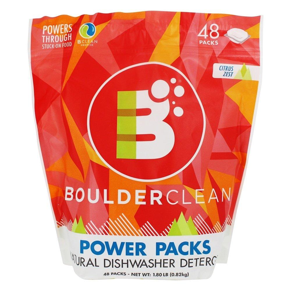 Boulder Clean - Natural Detergent Dishwasher Power Packs Citrus Zest - 48 Pack(s)