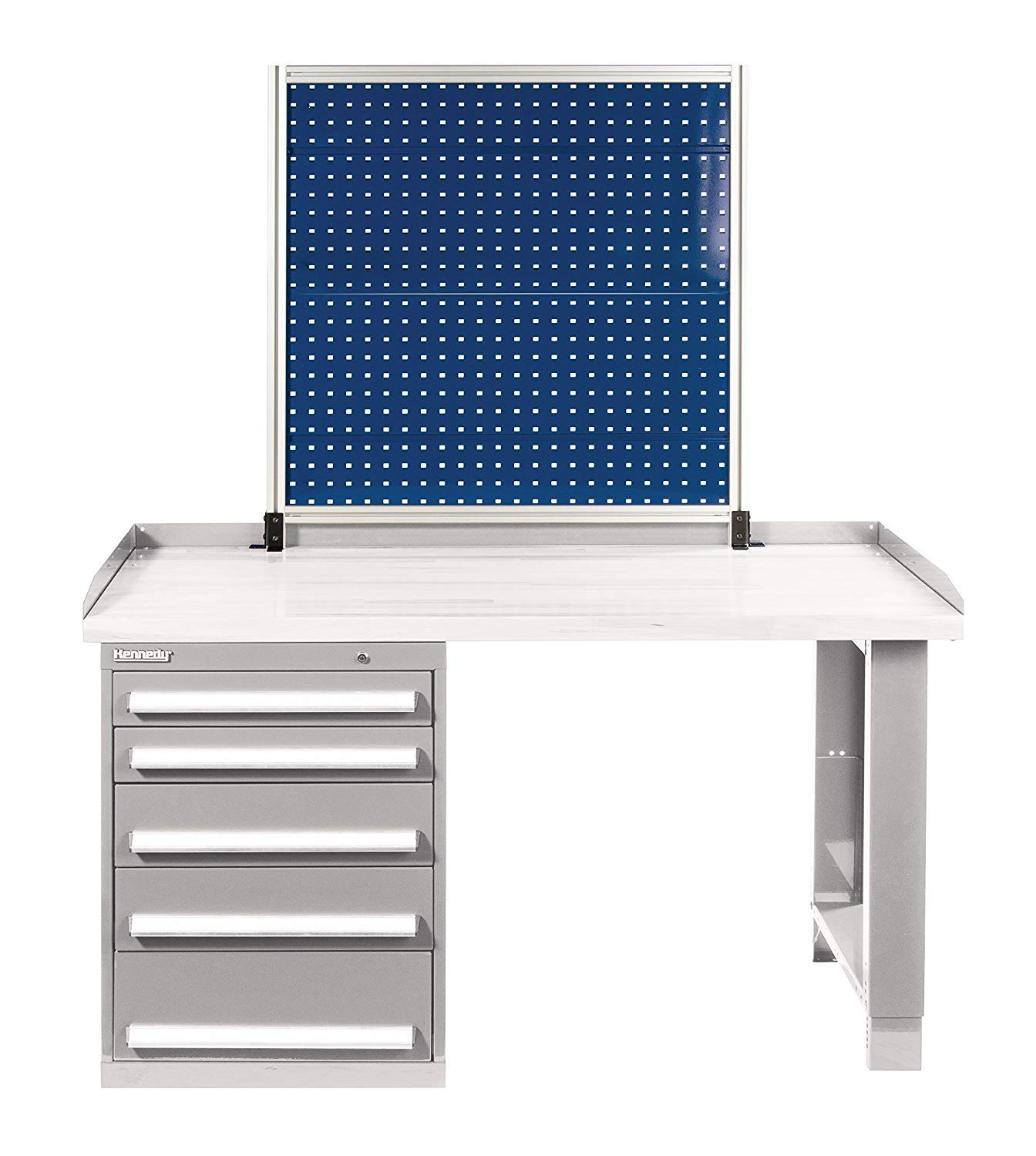 Kennedy Manufacturing 50070BL Kennedy Classic Blue Bench-Mount Pegboard, 39'' x 1-1/2'' x 40'', 40'' Height, 39'' Wide, 1.5'' Length, Pounds