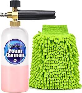 "Blisstime Snow Foam Lance Car Wash Pressure Washer Jet Wash 1/4"" Quick Release Adjustable Foam Cannon"