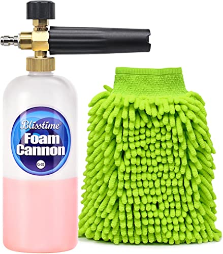Blisstime Snow Foam Lance Car Wash Pressure Washer Jet Wash 1/4 Quick Release Adjustable Foam Cannon