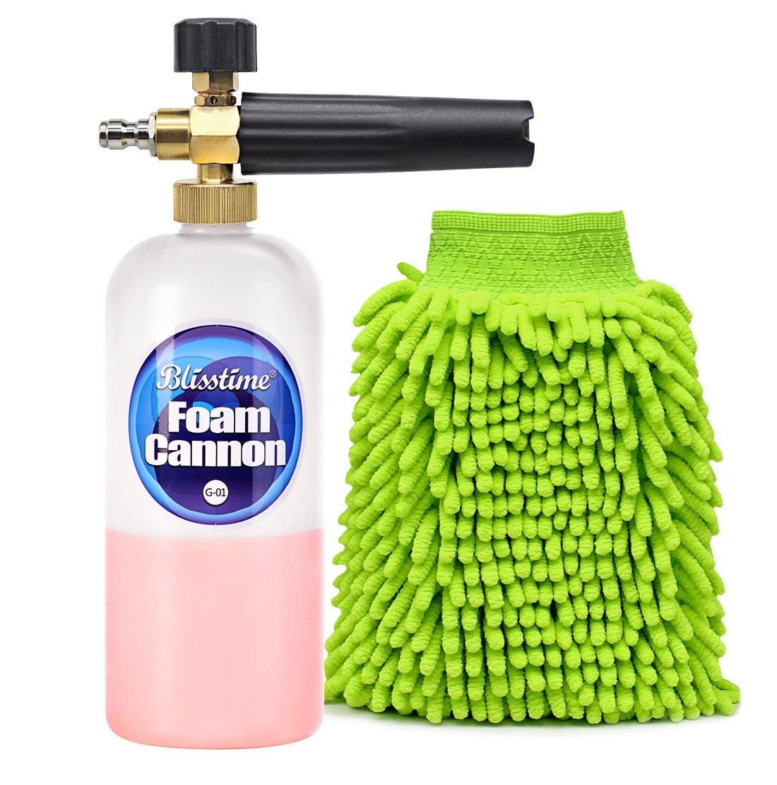 Blisstime Foam Cannon with Wash Mitt