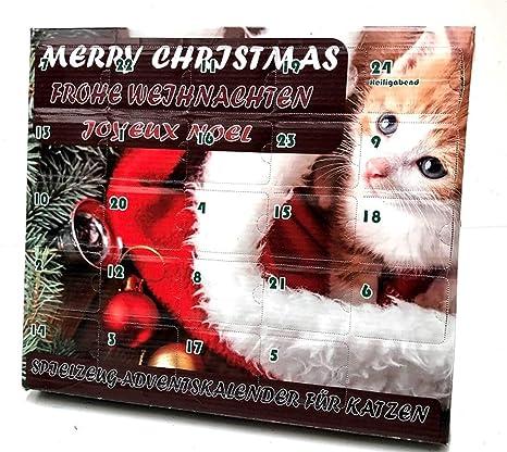 Calendario de adviento para gatos Juguete para gato Navidad