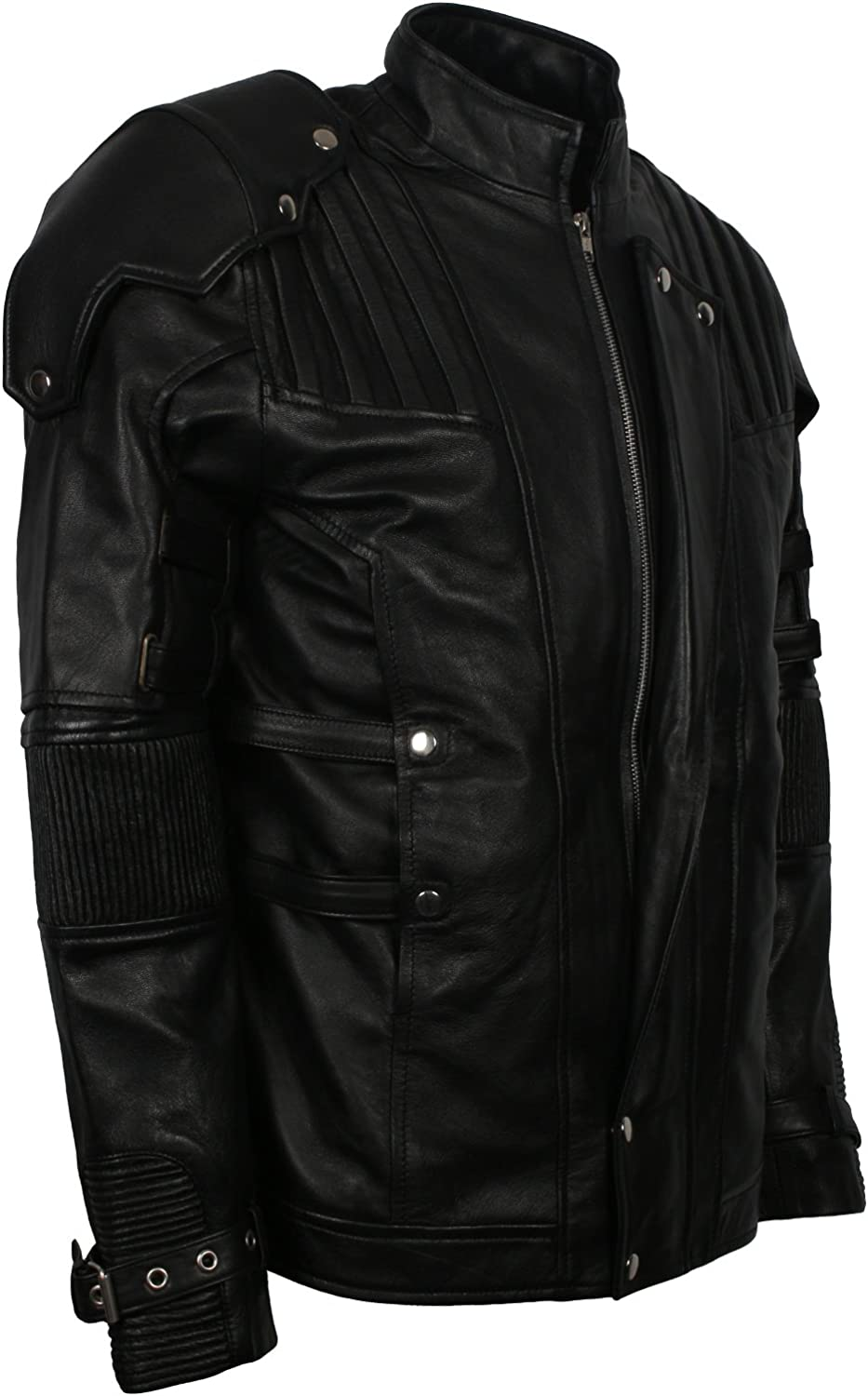 Herts Leather Mens Hollywood Fashion Leather Jacket Galaxy Lord Inspirational Genuine Leather Jacket