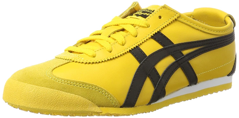 Onitsuka Tiger Mexico 66, Unisex-Erwachsene Low-Top Sneaker  36 EU|Mehrfarbig (Yellow/Black)
