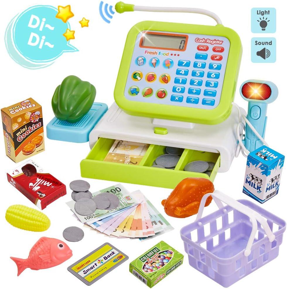 HERSITY Caja Registradora Juguetes Alimentos Supermercado de ...