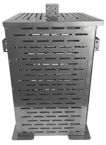 Professional Grade Products 9800803 High Grade Stainless Steel Burn Barrel Incinerator Cage, 32 Height x 22 Length x 22 Width
