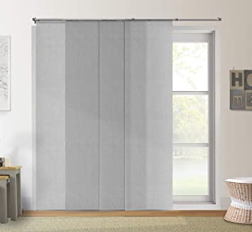 Sliding door blinds Bamboo Amazoncom Chicology Adjustable Sliding Panels Cut To Length Vertical Blinds Urban Grey light Filtering Up To 80 Amazoncom Amazoncom Chicology Adjustable Sliding Panels Cut To Length