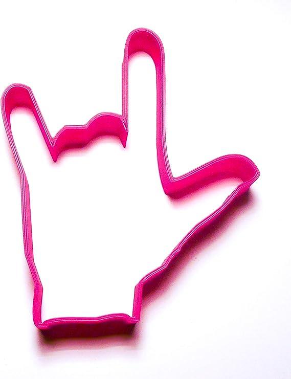 4 Love Sign Language Metal Cookie Cutter #N4017
